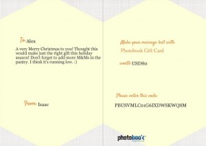 Gift Card shown in Email