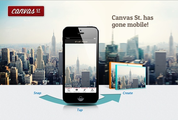 Personalised Canvas | Canvas St Mobile App