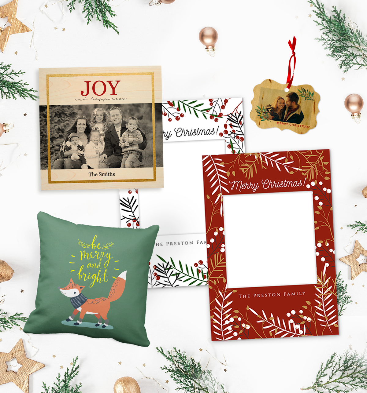 Photobook's Christmas products.