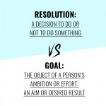 Goals vs Resolutions - Photobook