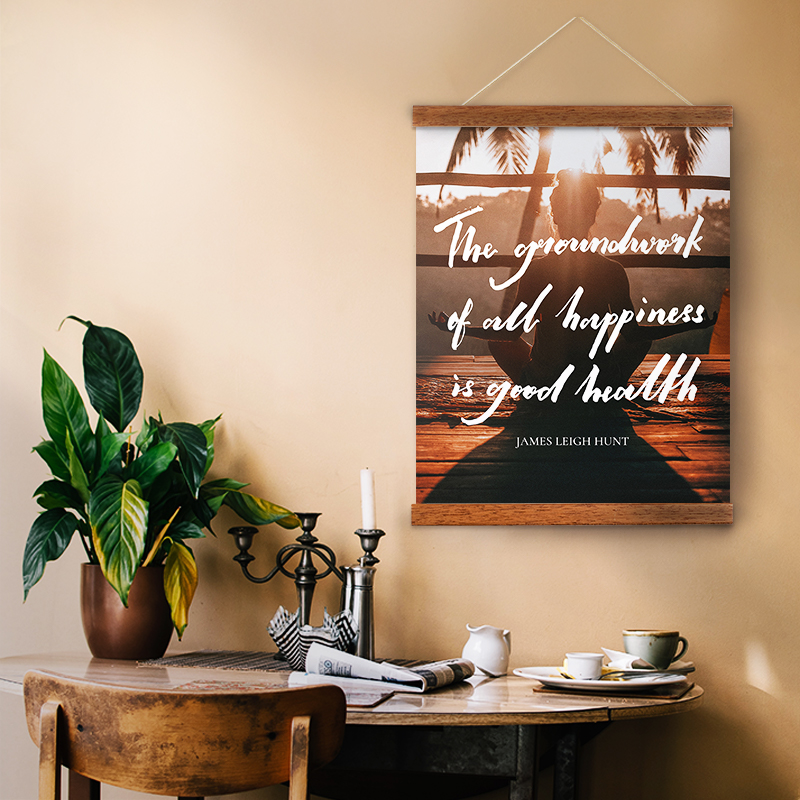Personalisable hanging canvas to motivate your daily habits.