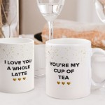 Personalisable Couple Photo Mugs.