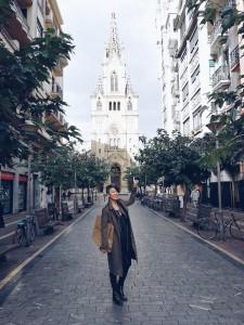 Tercia in her favourite city, Barcelona.