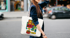 Canvas tote bags are great for artists to showcase their work on the go.
