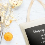 Personalise your canvas tote into a shopping list bag