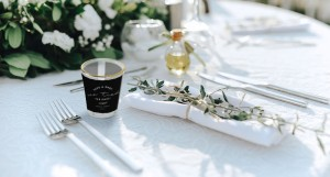 Photobook shot glasses as personalised wedding favours.