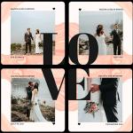 Photobook Love Life Set Of 4 Coasters