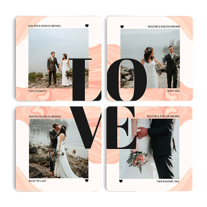 Photobook Love Life Set of 4 Coasters.